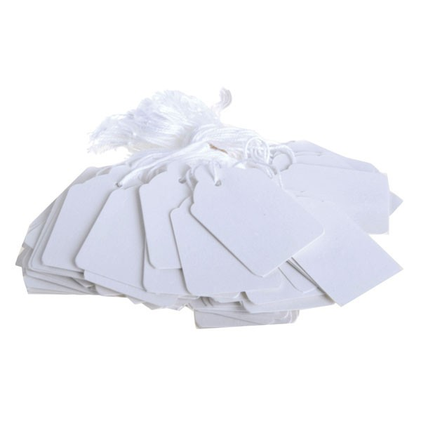 Q-Connect Strung Ticket 41 x 25mm White PACK OF 1000 KF01619