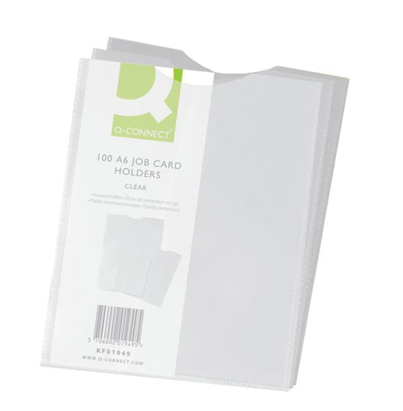 Q-Connect A6 Card Holders PACK OF 100 KF01949