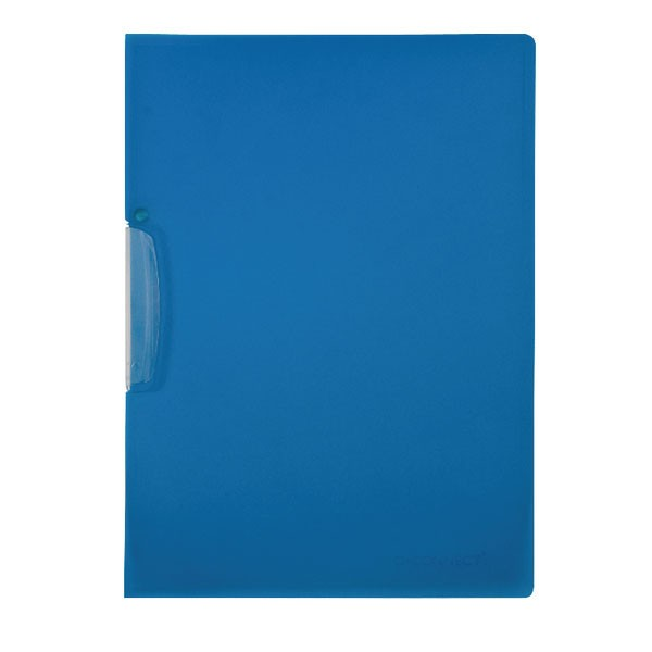 Q-Connect Frosted Blue A4 Swivelclip Files KF02134 - Folder File