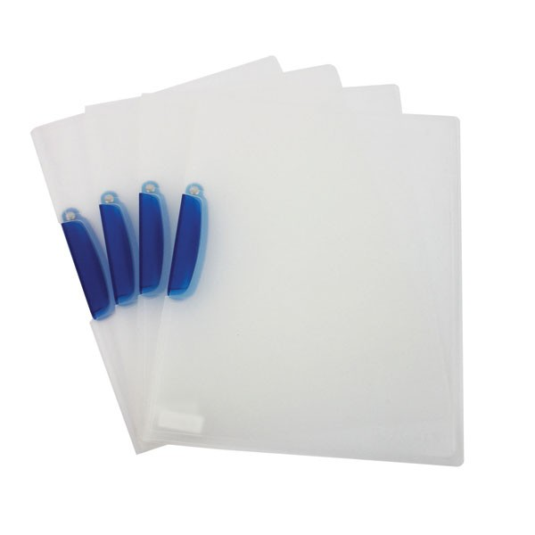 Q-Connect Clear Frosted A4 Swivelclip Files KF02138 - Folder File