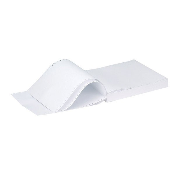Q-Connect Listing Paper 11 Inches x 241mm 2-Part NCR Plain (White Pink) KF02708