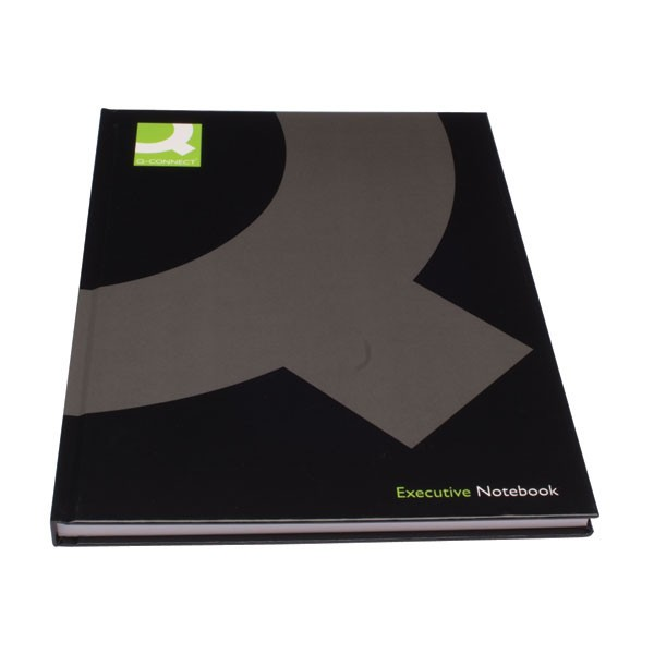 Q-Connect Black A4 Ruled Feint Casebound Book KF03725