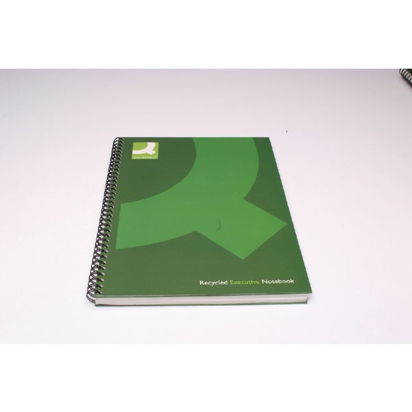 Q-Connect A5 Recycled Black Wirebound Book KF03732