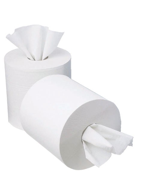 2Work 120 Metre 1-Ply Mini Centre Feed Roll Pack Of 12 KF03784 C1W120 - Centrefeed Rolls