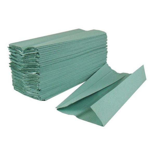 2Work Green 1-Ply Hand Towel Pack Of 144 HT1301 - Paper Hand Towels