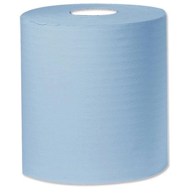 2Work Blue 1-Ply 300 Metre Centre Feed Roll PACK OF 6 C1B300 - Centrefeed Rolls