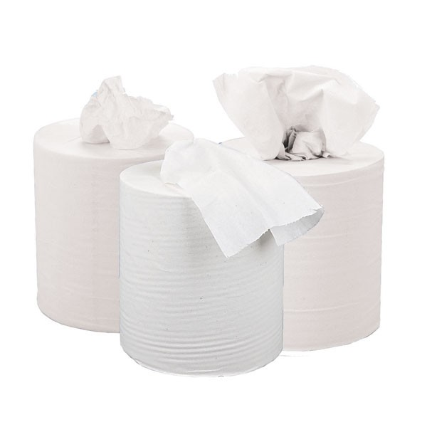 Maxima Green 150m White 2-Ply Centre-Feed Hand Towel VMAX4695 [PACK 6] - Centrefeed Rolls
