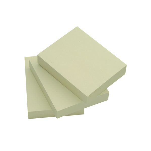 Q-Connect Yellow Quick Note Repositionable Pads 40x50mm KF10500