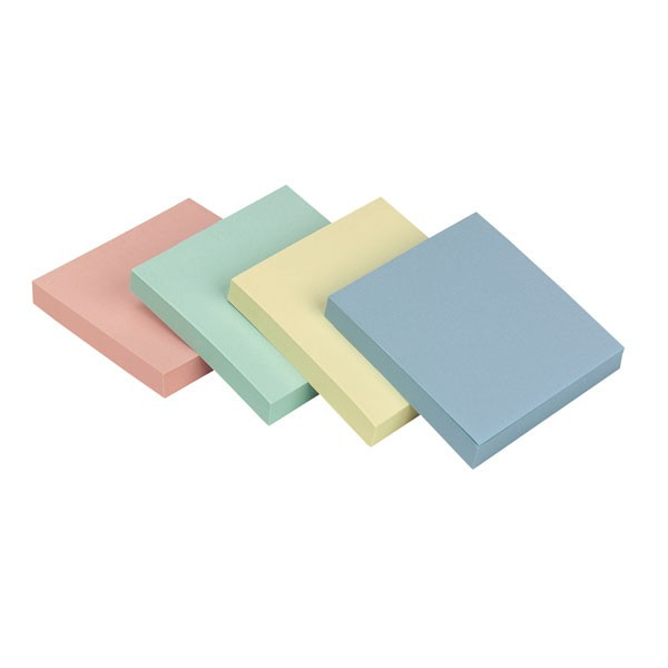 Q-Connect Rainbow Pastel Quick Note Repositionable Pad 75x75mm KF10509
