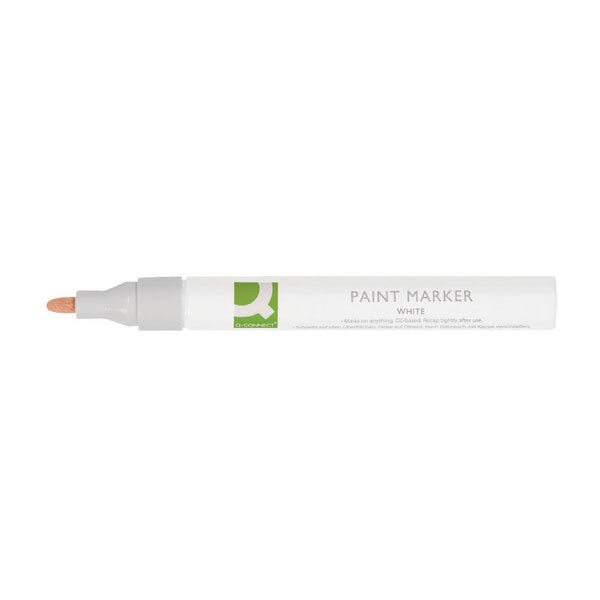 Q-Connect White Paint Marker KF14452 - Industrial Markers