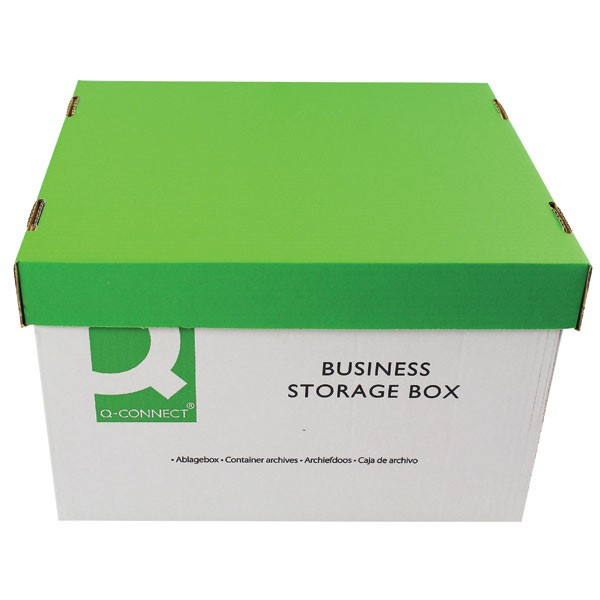 Q-Connect 335x400x250mm Business Storage Box KF21660