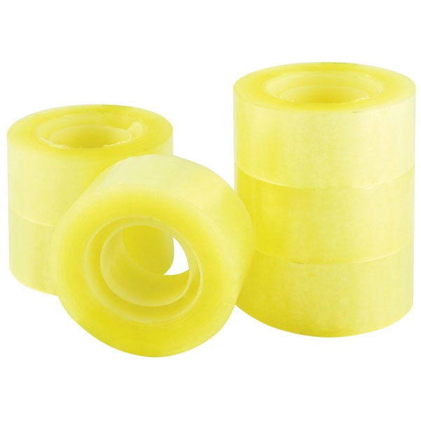 Q-Connect Easy Tear Polypropylene Tape 24mm x 33 Metres KF27014 - Adhesive Tape