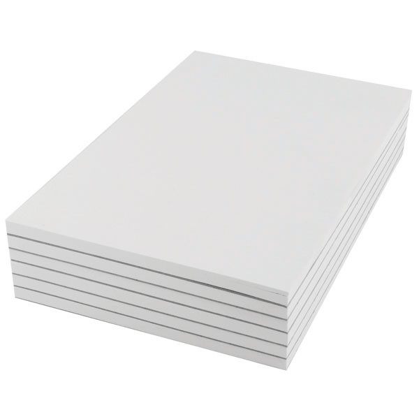 Q-Connect 80 Leaf Plain Scribble Pad 203 x 127mm