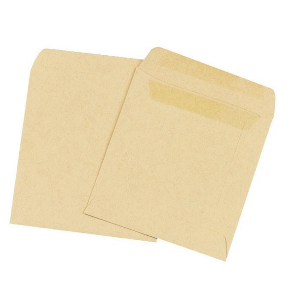 Q-Connect Plain Self Seal Manilla Wage Envelopes 108x102mm PACK OF 1000 KF3420 - Wage Envelopes