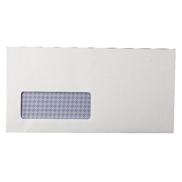 Q-Connect White Self-Seal Low Window DL Envelopes 80gsm KF3455