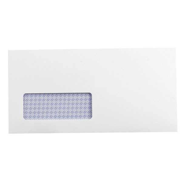 Q-Connect Recycled Low Window Self-Seal White DL Envelopes 100gsm KF3505 - DL Envelopes