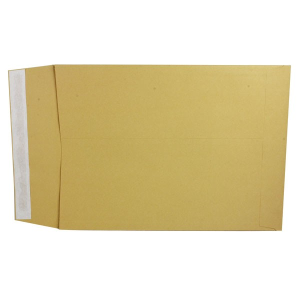Q-Connect Peel And Seal Manilla Gusset Envelopes 81x254x25mm 140gsm KF3528 - Gusset Envelopes Ireland