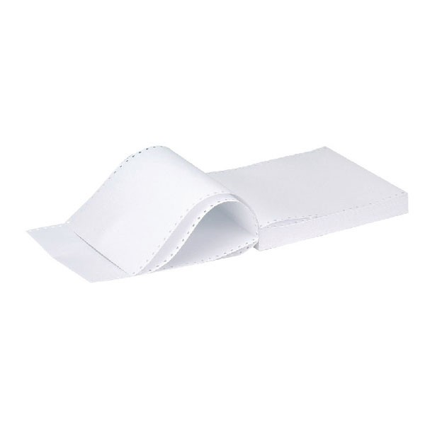 Q-Connect Listing Paper 11 x 9.5 Inches 2-Part NCR Plain (Pack of 1000) C2NPP