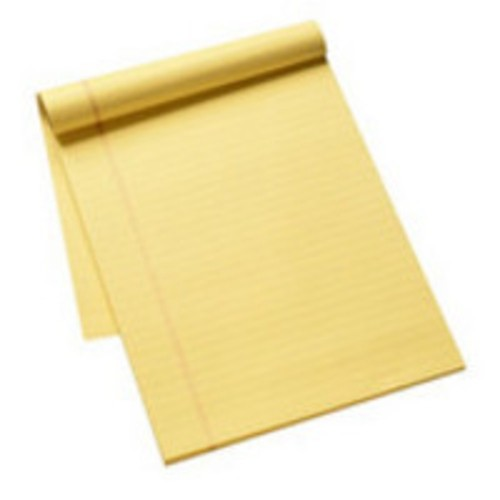 Q-Connect Executive Yellow Ruled Fein And Margin A4 Pad KF01387 - Legal Pads