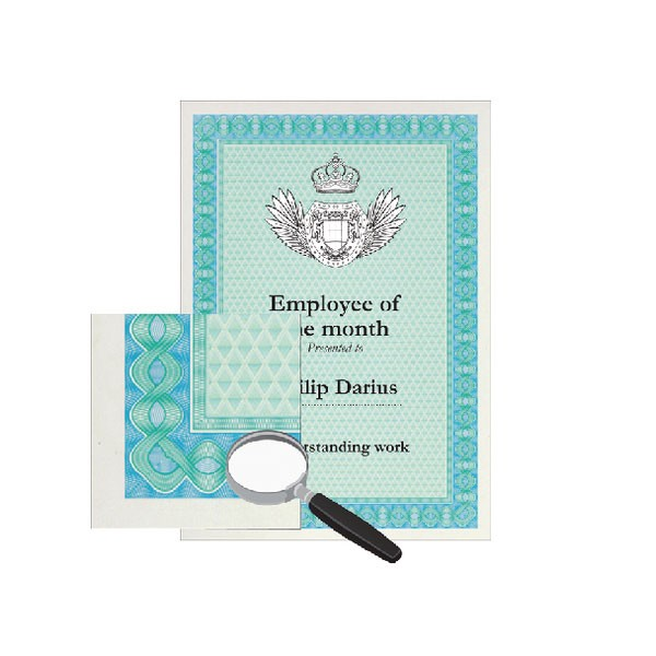 Decadry Certificate Paper A4 115gsm Hellicoid Turquoise/Blue Pack 70