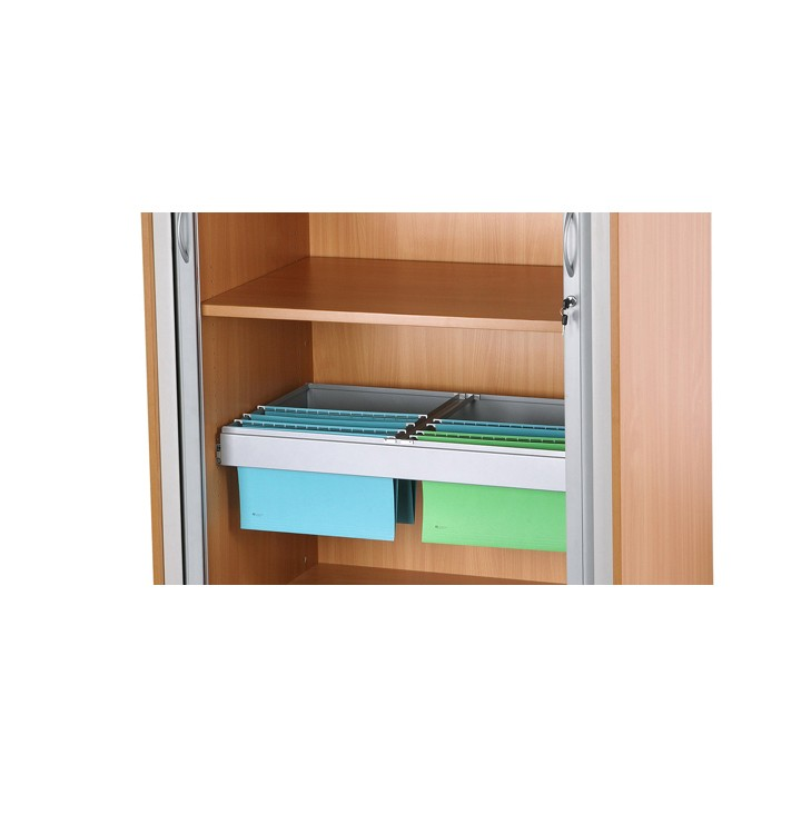 SUAMHNEAS BEECH TAMBOUR CABINET PULL-OUT FILING CRADLE
