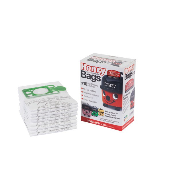 Numatic Cleaner Bags For Henry/Tub Vacuum Cleaners Pack Of 10 KNI1C - Henry Vacuum Cleaner