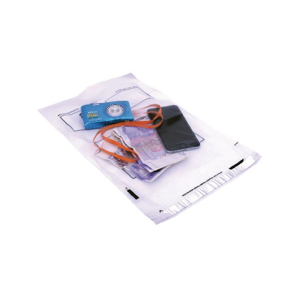 Postsafe Extra-Strong Clear Waterproof Polythene Peal And Seal C4 Envelopes 240x320mm P24 - Polythene Envelopes