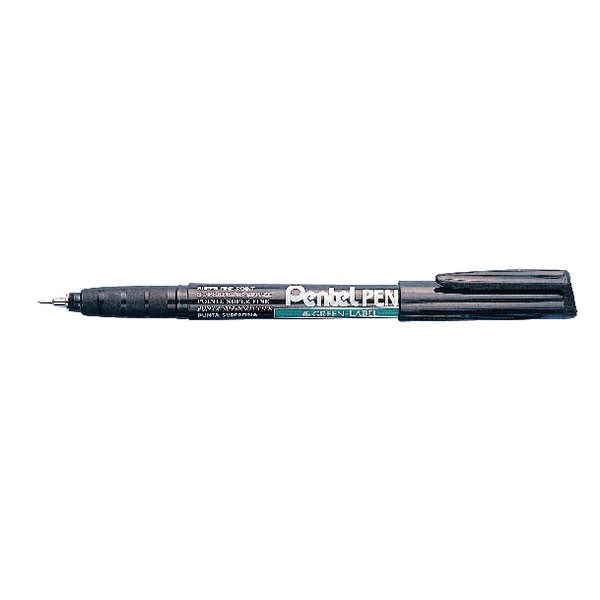 Pental Superfine 0.4mm Black Markers NMF50-A - Permanent Markers