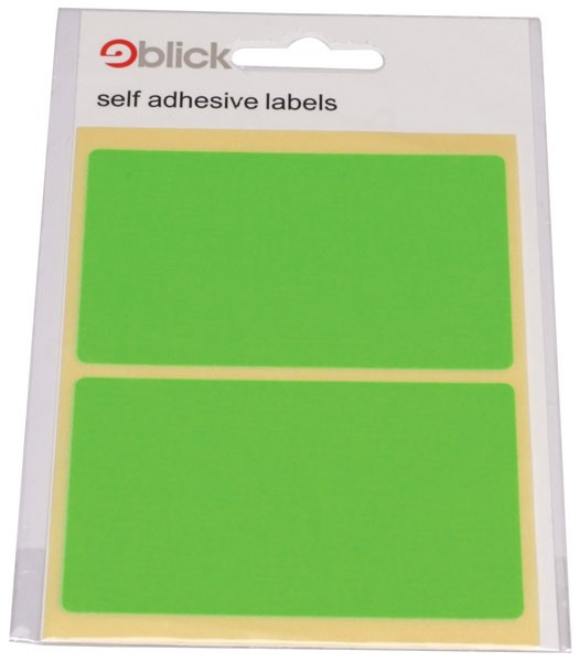 Blick Fluorescent Labels In Bags 50X80Mm (Pack Of 160)