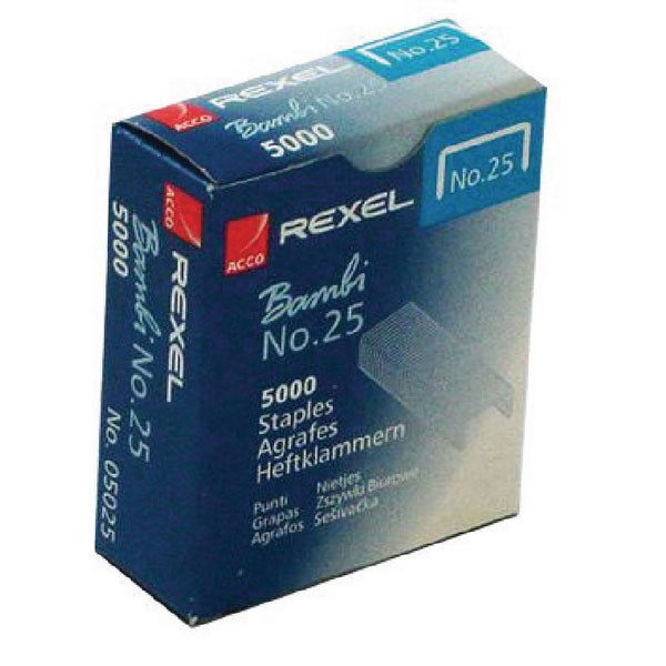 Rexel No25 Bambi Staples PACK OF 5000 05025 - Staples Online