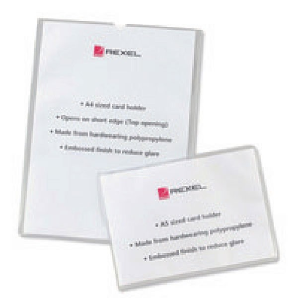 Rexel Clear Open Top A4 Nyrex Card Holders 12092 - Business Card Holder