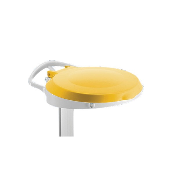 Yellow Plastic Round Lid For Smile Sackholder 348034