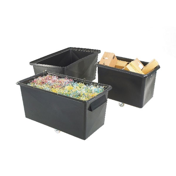 Recycled Container Truck Poly Tapered Sided Black 329063
