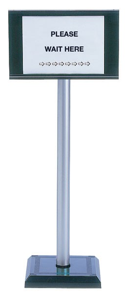 PVC Post 110cm With A4 Sign Holder 370445