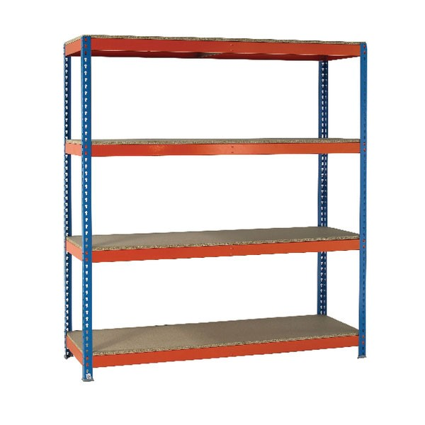 VFM Orange/Zinc Heavy Duty Painted Shelving Unit 379028