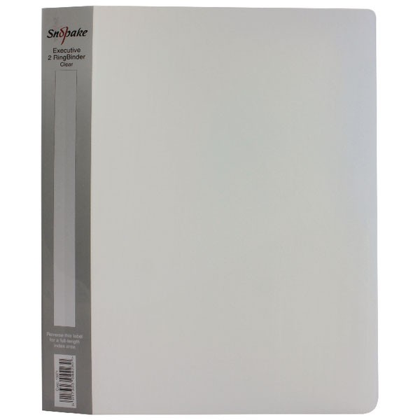 Snopake Clear 25mm A4 Executive Ring Binder 13371 - A4 Ring Binder