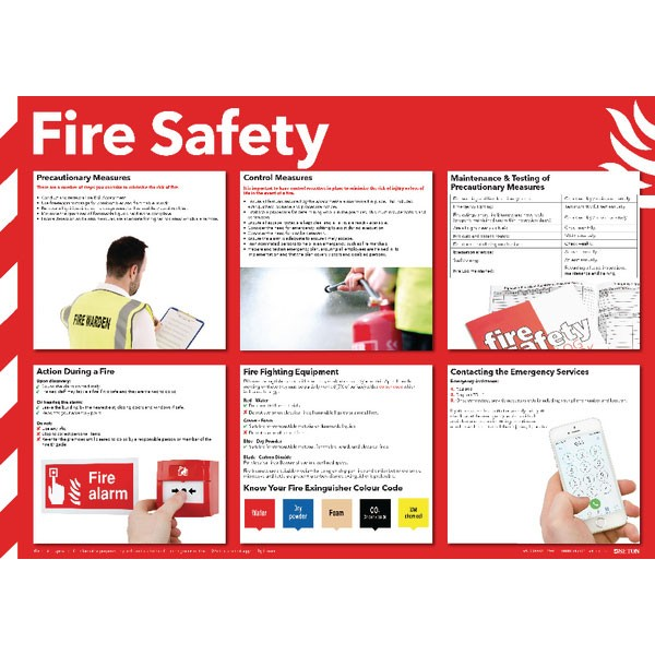 Health And Safety Fire Safety Poster 420 x 590mm FA601 - Health Safety Poster