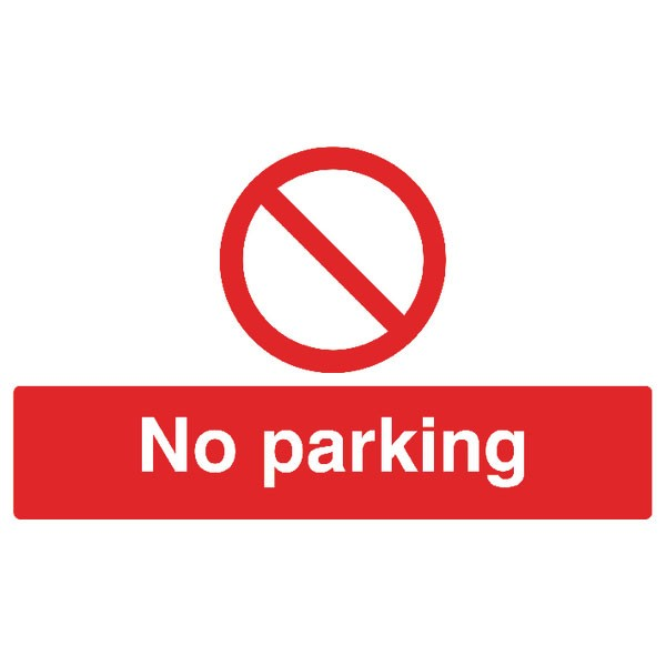 No Parking 300 x 500mm PVC Safety Sign ML01929R - No Smoking Signs