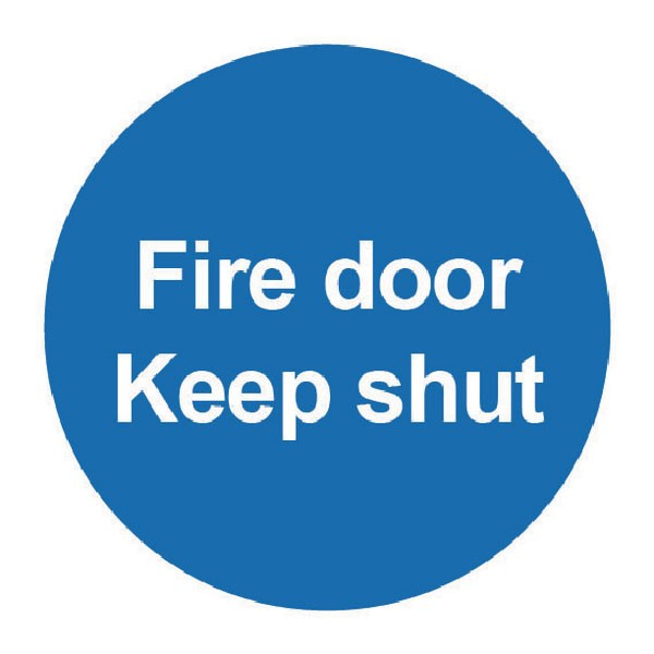 Fire Door Keep Shut 100 x 100mm PVC Safety Sign FR07002R - Fire Exit Signs