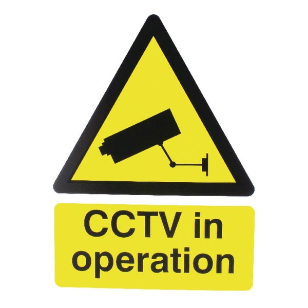 CCTV In Operation PVC 400 X 300mm Warning Sign - CCTV Surveillance Signs