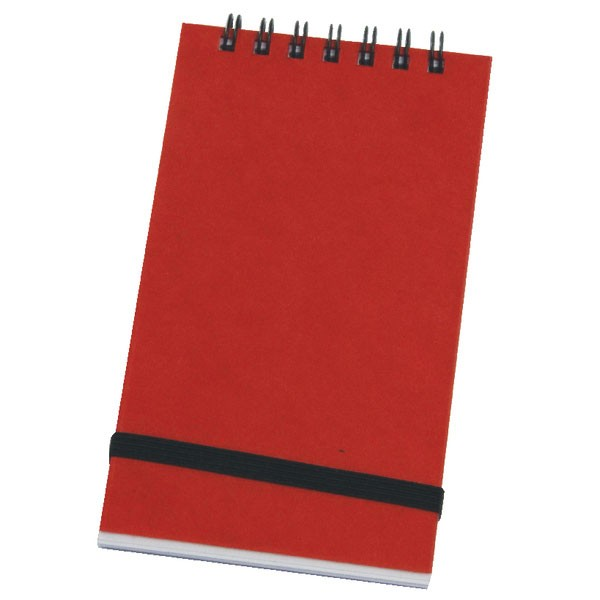 Silvine 96 Leaf Ruled Feint Spiral Bound Elastic Band Notebook 127 x 76mm