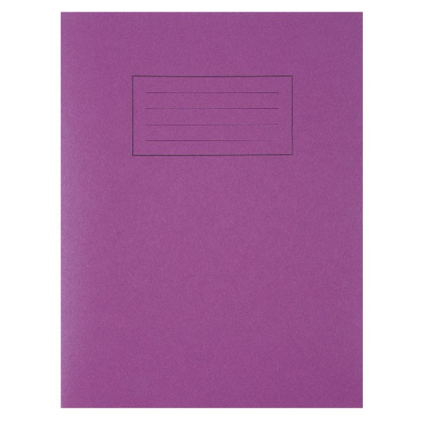 Silvine Exercise Book 229 X 178Mm Ruled With Margin (Pack Of 10)
