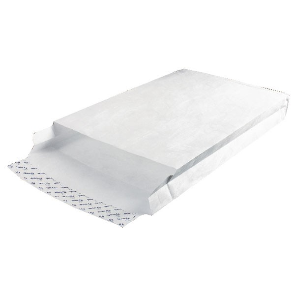 Tyvek White D4A Gusset Envelopes 381x254mm 757224 - Security Envelopes