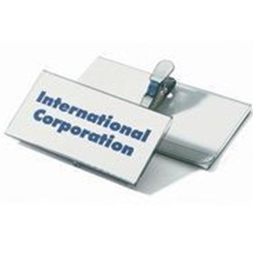 Durable Crocodile Clip Fastener Name Badge 40 x 75mm Pack Of 25 8110