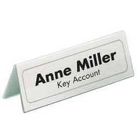 Durable Table Name Holder 61 X 150mm PACK OF 25 8050 - Badge Holders