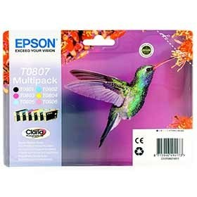 Epson T0807 Claria Photo Ink Mulitpack C13T08074011