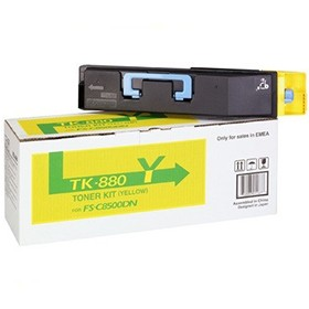 Kyocera FS-C8500DN Toner Cartridge 18K Yellow TK-880Y - Printer Toner