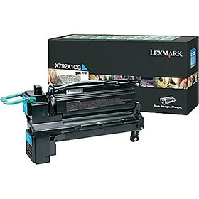 Lexmark X792 Extra High Yield Return Programme Cartridge Cyan X792X1CG - Printer Toner