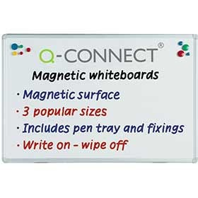 Q-Connect Premium Magnetic Dry Wipe Board 900 x 600mm KF04145