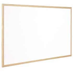 Q-Connect Wooden Frame White Board 1200 x 900mm KF03572